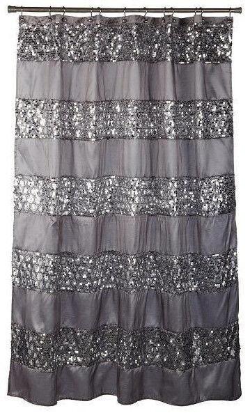 Curtains Ideas black cloth shower curtain : Modern Fabric Shower Curtains | eBay