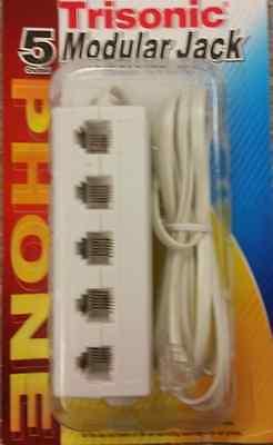 5 Way Telephone Outlet Splitter Phone Modular Jack Line Adapter