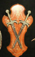 Medieval Swords -Wood Plaque Display