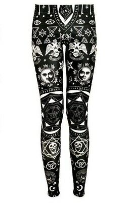 Leggings XS 34 Ritual Kostüm Leggins Halloween Gothic (Leggings Kostüm)