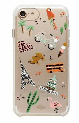 Rifle Paper Co. Clear Wanderlust iPhone 6/7/8 Case Free S/H