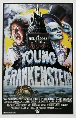 Young Frankenstein - Gene Wilder - Mell Brooks - A4 Laminated Mini Poster