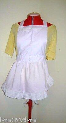 Alice In Wonderland Dress Up (GIRLS ALICE IN WONDERLAND FANCY DRESS COSTUME APRON ONLY Up to 12 yrs old)