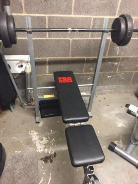 Pro Power Weight Bench + 30kg Weights