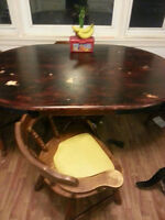 Solid Wood Dinning Table - Must Go ASAP