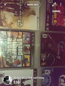 Ps3 games, Gta 5 etc 30$