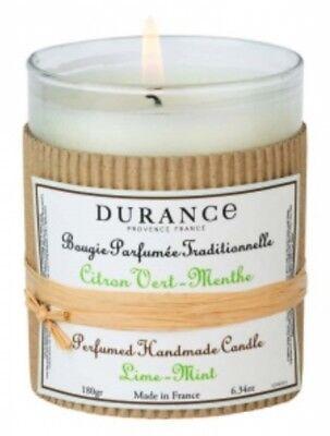 Minze Duftkerze (Durance Provence - Duftkerze Limette-Minze (Citron Vert-Menthe) 180 g)