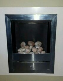 Inset Gas fire with vent