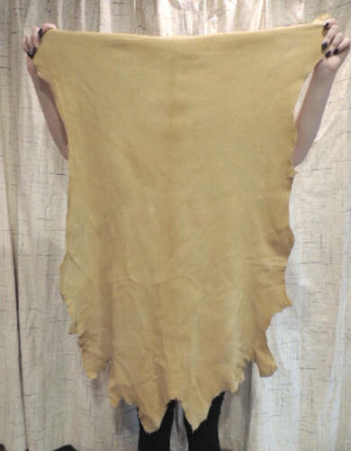 SMOKED BRAINTAN Buckskin Leather Hide for Regalia Native Crafts Pipe Bags Fringe