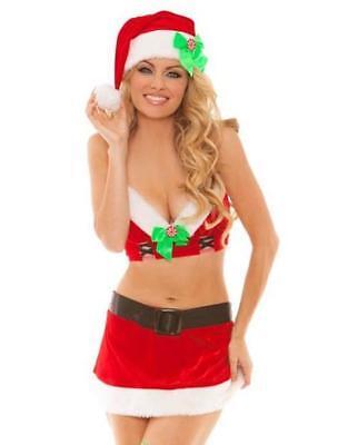 Pfefferminze Prinzessin Weihnachten Kostüm Top Rock Hut Weihnachtsmann Helfer