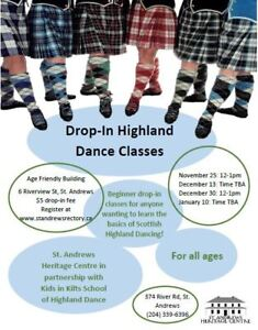 Highland Dancing Classes - $5.00 Drop-In Fee