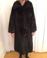 Ladies Mink Fur Coat,  Manteau de fourrure vison noir