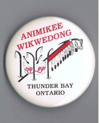 Aboriginal Culture Thunder Bay Ontario Canada 2 25  Pinback Button Advertising