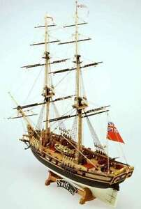 HMS Swift British Brigantine #59 Mamoli Ships Wood Model Sailing Ship Kit