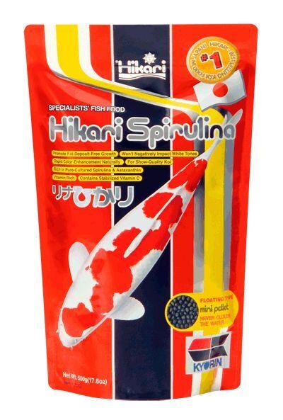 Hikari Spirulina Pond Fish Food 17.6oz or 11 Pound - Great Color Enhancer