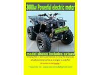 Eecotreck Boss 3000w electric farm quad bike/atv of road with towbar