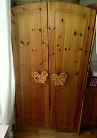 Child's wardrobe and matching changing table/cupboard