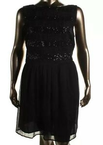 SEXY! BB DAKOTA BLACK Sequined Cocktail Dress 20 Plus