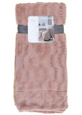 NEW Brock Collection Plush Faux Fur Reverse Sherpa Throw Blanket...