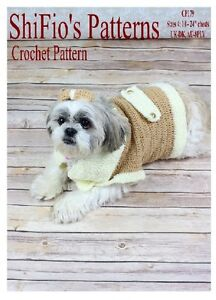 CROCHET-PATTERN-for-DOG-JACKET-COAT-BOW-S-M-L-XL-179-By-ShiFio-Patterns