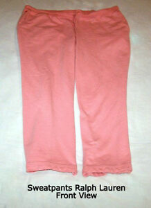 Ralph Lauren women's Sweatpants: coral, soft, comfortable, 2X