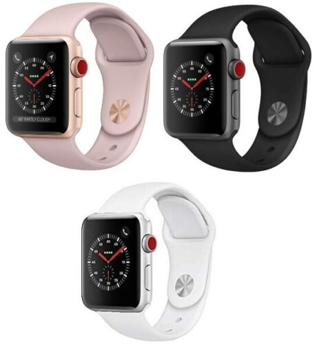 Apple Watch Series 3 38mm 42mm GPS + Cellular Pink Gold Space Gray Silver MINT