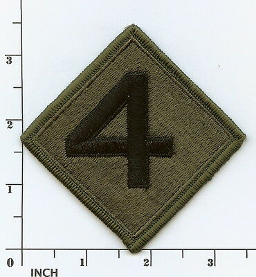 USMC 4th Marine Division PATCH Subdued OD ! full embroidered! 4th MarDiv Marines ()