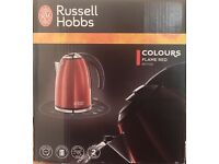 Russell Hobbs 1.7 lt, 3000w rapid boil kettle Flame Red