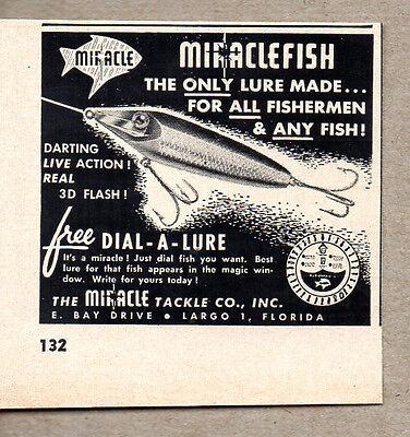 1957 Vintage Ad Miraclefish Fishing Lures Miracle Tackle Largo,FL