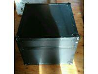 Pa/Dj Flight case with Laptop shelf