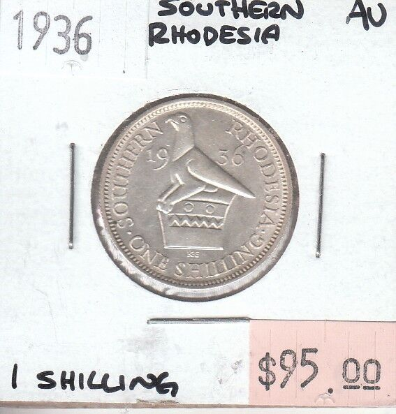 Southern Rhodesia 1 Shilling 1936 AU Almost Uncirculated