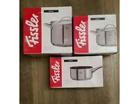 Brand new fissler pots and pans.