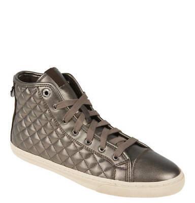 """Geox Damen Leder Schuhe Sneakers in braun """"New Club"""" Steppnähte in Gr.37 NEU"""