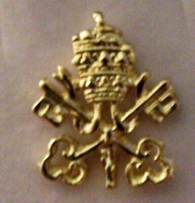 Pope Rome Vatican Tiara Catholic Knights Columbus KC Award Pin Case Box Temple X