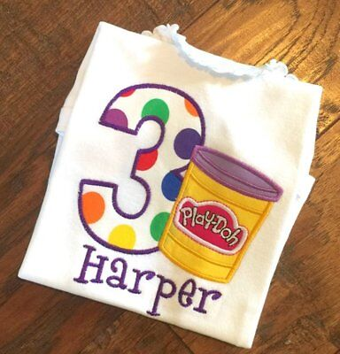 Girls Play-Doh with Age, Playdoh shirt, Playdoh Birthday, Playdoh, Playdoh - Play Doh Birthday Party