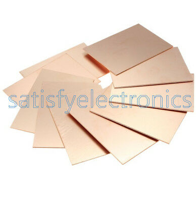 12510pcs 1015cm Fr4 1.5mm Thickness Single Pcb Copper Clad Laminate Board
