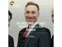 The Three Tenors Lyric Theatre Belfast tickets