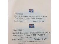 World Snooker championship Semi Final *Row **D**