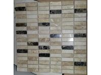 Real travertine mosaic tiles - £4 per sheet or all 10 sheets for £35
