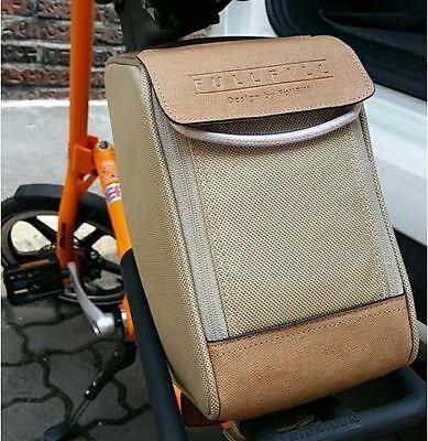 For Strida Saddle Bag Bike Bag Rear Bag Carrier Bag T Bag Bicycle Bag - Beige