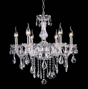 Hot hfor Crystal Venetian Style Wall Chandeliers 6 Lights Fixture Hallway 110V