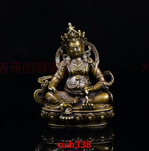 Chinese Buddhism old bronze Baby Buddha Prince lotus Standing Buddha Statue
