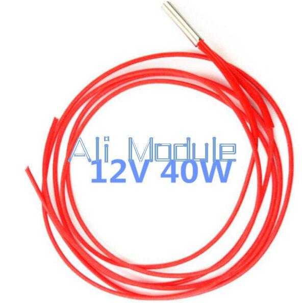 Reprap 12v 40W Ceramic Cartridge Wire Heater For Arduino 3D Printer Prusa Mendel