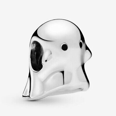 The W Halloween (New Authentic Pandora Charm Bo The Ghost Halloween 798340 W Tag & Suede)