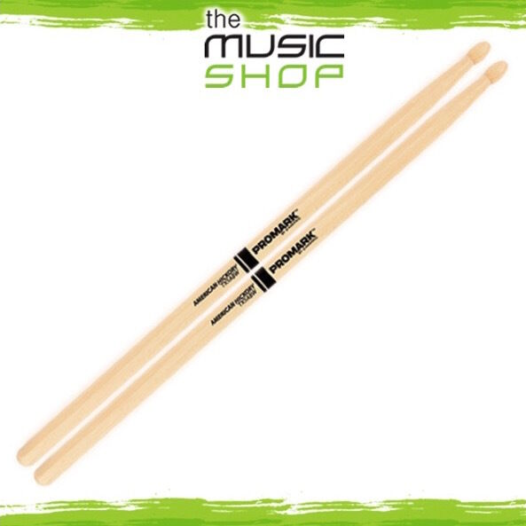 New Set of Promark Hickory 5AB Drumsticks with Oval Wood Tips - TX5ABW