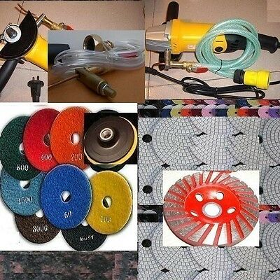 Wet Stone Travertine Granite Polisher 4 Polishing Pad Cup Grinding Wheel Marble