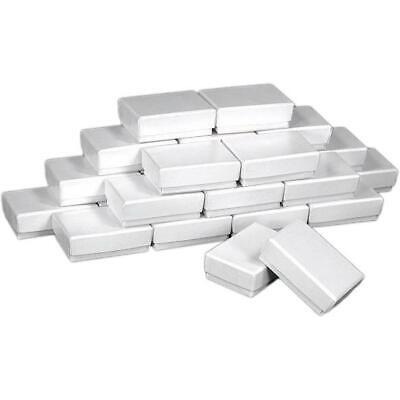 25 White Charm Cotton Boxes Pendant Gift Box Display