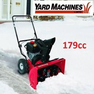 """USED YARD MACHINES SNOW BLOWER 31A-32AD752 149848355 179cc  22"""" Two-Stage Snow THROWER - SNOW REMOVAL SNOWBLOWER BLOW..."""