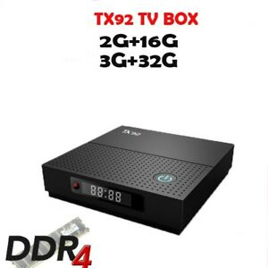 TX92 - 2GB Ram DDR3, Kodi/XBMC 17.6 Android Media Box