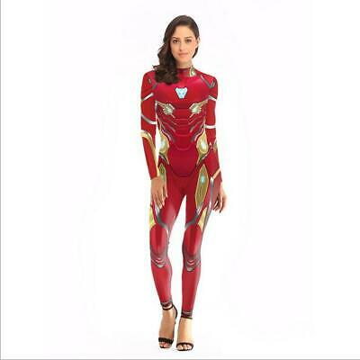 The Avengers 4 Endgame Marvel Iron Man Cosplay Costume One-piece Jumpsuit Outfit - Iron Man Outfit